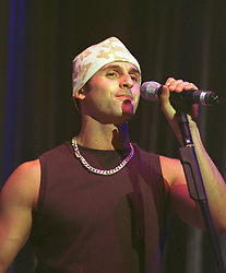 Steve Scott-Lee of 3SL a three piece boy band who are the brothers of Lisa From STEPS<br /><br />3SL appear as support band for SCLUB 7 at Sheffield Arena Friday 9th Feb 2002