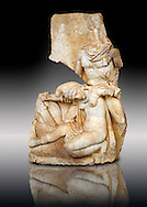 Photo of Roman relief sculpture, Aphrodisias, Turkey, Images of Roman art bas reliefs.  Nero supports a slumping naked Armenia. She wears a soft eastern hat. .<br /> <br /> If you prefer to buy from our ALAMY STOCK LIBRARY page at https://www.alamy.com/portfolio/paul-williams-funkystock/greco-roman-sculptures.html . Type -    Aphrodisias     - into LOWER SEARCH WITHIN GALLERY box - Refine search by adding a subject, place, background colour, museum etc.<br /> <br /> Visit our ROMAN WORLD PHOTO COLLECTIONS for more photos to download or buy as wall art prints https://funkystock.photoshelter.com/gallery-collection/The-Romans-Art-Artefacts-Antiquities-Historic-Sites-Pictures-Images/C0000r2uLJJo9_s0