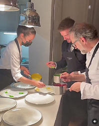 DAVID BECKHAM has posted a photo on Instagram with the following remarks: What a treat to create the spin painting on Massimo's plate ???? with @massimobottura @jessrosval WOW ?? thank you very much my friend Instagram 22/06/2021 This is a private photo posted on social networks and supplied by this Agency. This Agency does not claim any ownership including but not limited to copyright or license in the attached material. Fees charged by this Agency are for Agency's services only, and do not, nor are they intended to, convey to the user any ownership of copyright or license in the material. By publishing this material you expressly agree to indemnify and to hold this Agency and its directors, shareholders and employees harmless from any loss, claims, damages, demands, expenses (including legal fees), or any causes of action or allegation against this Agency arising out of or connected in any way with publication of the material.