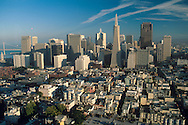 View of downtown from atop Coit Tower, San Francisco, California