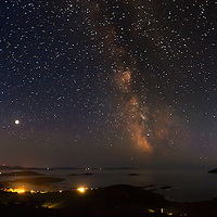Derrynane National Park at night with view on Denish and Scarriff Island, County Kerry, Ireland / ng004