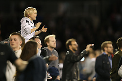 Fulham fans celebrate after the match - Mandatory by-line: Paul Terry/JMP - 14/05/2018 - FOOTBALL - Craven Cottage - Fulham, England - Fulham v Derby County - Sky Bet Championship Play-off Semi-Final