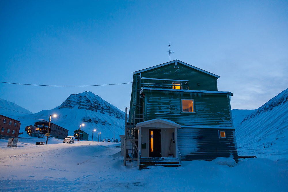 UNIS student barrack (#2) in Nybyen, Longyearbyen, Svalbard.