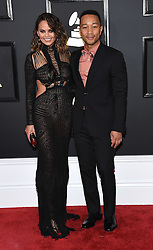 February 12, 2017 - Los Angeles, California, U.S. - Chrissy Teigen and John Legend arrives for the 2017 Grammy Awards at Staples Center. (Credit Image: © Lisa O'Connor via ZUMA Wire)