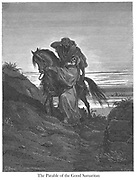 The Good Samaritan [Luke 10:33] From the book 'Bible Gallery' Illustrated by Gustave Dore with Memoir of Dore and Descriptive Letter-press by Talbot W. Chambers D.D. Published by Cassell & Company Limited in London and simultaneously by Mame in Tours, France in 1866