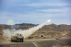 August 1, 2018 - Xinjiang, China - A missile is launched during the Air Defense Missile Soldier Skill Contest held in northwest China's Xinjiang. (Credit Image: © SIPA Asia via ZUMA Wire)