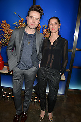 NICK GRIMSHAW and CAROLINE GRIDLING at a dinner hosted by Anya Hindmarch and Dylan Jones to celebrate the end London Collections: Men 2014 held at Hakkasan, 8 Hanway Place, London on 8th January 2014.