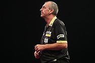 Wayne Warren during the Grand Slam of Darts, at Aldersley Leisure Village, Wolverhampton, United Kingdom on 11 November 2019.