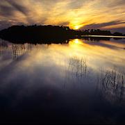 Spectacular sunset in Everglades National Park, FL.