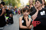 Nicolas Celaya/ URUGUAY/ MONTEVIDEO/ CENTRO<br /> En la foto, Marcha en el marco del Día Internacional de la Eliminación de la Violencia contra la Mujer por el centro de Montevideo. Nicolás Celaya /adhocFOTOS<br /> 2016 - 25 de noviembre - viernes