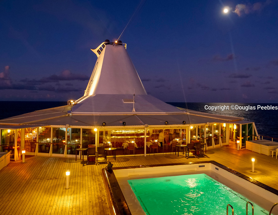 Full Moon, Paul Gauguin cruise ship, French Polynesia, South Pacific