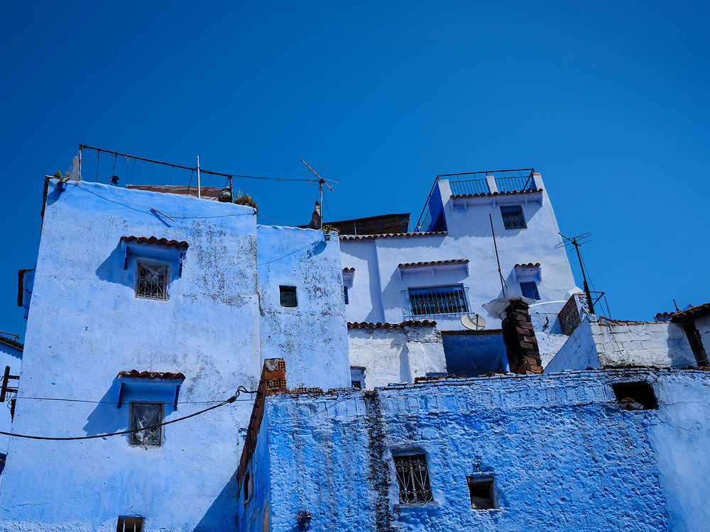 CHEFCHAOUEN, MOROCCO - CIRCA APRIL 2017: View of Chefchaouen. This is a popular tourist destination in Morocco.