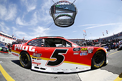 April 13, 2018 - Bristol, Tennessee, United States of America - April 13, 2018 - Bristol, Tennessee, USA: Michael Annett (5) drives his car under Colossus TV during opening practice for the Fitzgerald Glider Kits 300 at Bristol Motor Speedway in Bristol, Tennessee. (Credit Image: © Chris Owens Asp Inc/ASP via ZUMA Wire)