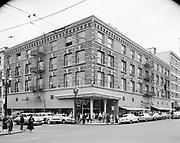 Simon 049. Roberts Brothers, SW 3rd & Morrison, looking SE. May 31, 1955