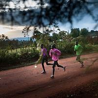 Kenyan runners by Chris Maluszynski