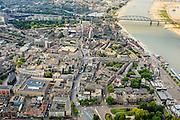 Nederland, Gelderland, Nijmegen, 26-06-2013; binnenstad Nijmegen, met Burchtstraat. Rechts de Waal.<br /> Town of Nijmegen. Bank of river Waal.<br /> luchtfoto (toeslag op standaard tarieven);<br /> aerial photo (additional fee required);<br /> copyright foto/photo Siebe Swart.