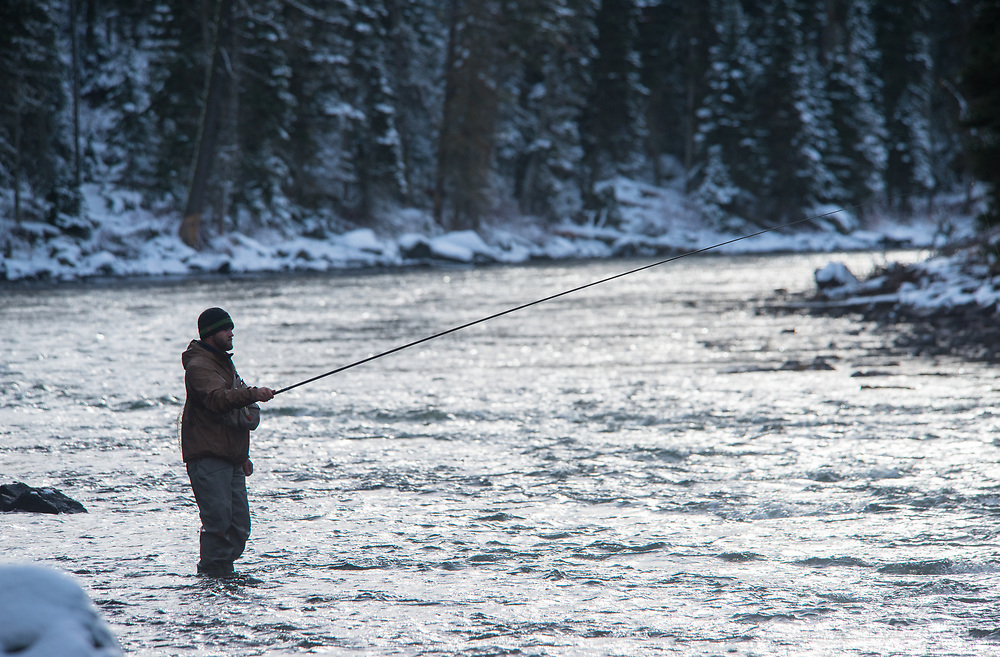 Jack Scothern of Utah drifts the Tenkara nymphs in Idaho's Box Canyon.