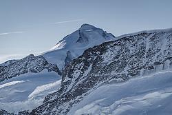 15.01.2020, Jungfrauenjoch, Wengen, SUI, FIS Weltcup Ski Alpin, Vorberichte, im Bild Aletschhorn (4193m) mit Kranzberg (3666m) // Aletschhorn (4193m) with Kranzberg (3666m) during a preliminary reports prior to the FIS ski alpine world cup at the Jungfrauenjoch in Wengen, Switzerland on 2020/01/15. EXPA Pictures © 2020, PhotoCredit: EXPA/ Johann Groder **** ACHTUNG - dieses Bilddatei ist für den Grossformatdruck in einer maximalen Grösse mit mehr als 18142 x 6717 pixel (ca. 700 MB) verfügbar! Fragen Sie nach den hochauflösenden Daten // ATTENTION - This image file is for Large Format Printing available in a maximum size of more then 18142 x 6717 pixels (about 700 MB)! Ask for the high-resolution data. ****