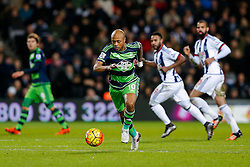 Andre Ayew of Swansea City in action - Mandatory byline: Rogan Thomson/JMP - 02/02/2016 - FOOTBALL - The Hawthornes - West Bromwich, England - West Bromwich Albion v Swansea City - Barclays Premier League.