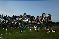 Cornwall football players take the field before the start of their game against Pine Bush in Cornwall on Friday, Sept. 6, 2013. The game was the first of the season for both teams.