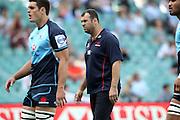 Waratahs coach Michael Cheika. Waratahs v Force. 2013 Investec Super Rugby Season. Allianz Stadium, Sydney. Sunday 31 March 2013. Photo: Clay Cross / photosport.co.nz