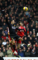 Photo: Mark Stephenson/Sportsbeat Images.<br /> Liverpool v Manchester United. The FA Barclays Premiership. 16/12/2007.Ryan Giggs wins the ball