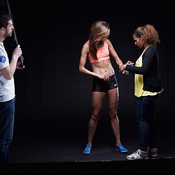 PARIS, FRANCE. MARCH 16, 2012. Tunisian athlete Habiba Ghribi shot at the Studio Zero. Photo: Antoine Doyen