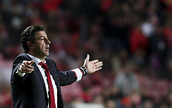 November 26, 2017 - Lisbon, Portugal - Benfica's coach Rui Vitoria gestures from the sideline during the Portuguese League  football match between SL Benfica and Vitoria Setubal at Luz  Stadium in Lisbon on November 26, 2017. (Credit Image: © Carlos Costa/NurPhoto via ZUMA Press)