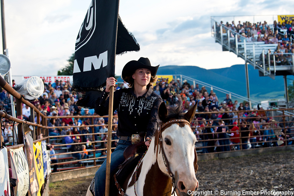 opening flags at the Livingston Roundup 3rd perf July 4th 2019.  Photo by Josh Homer/Burning Ember Photography.  Photo credit must be given on all uses.