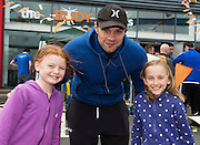 13/09/2015  Niall Breslin, Bessie, with Roisin Crowe and Sarah Louise Brennan  at the official opening of the body works  a gym in Galway city.<br /> Photo:Andrew Downes, xposure<br /> The Body Works Galway is Galway's newest fitness studio. We are located adjacent to Parkmore in Briarhill Business park about a seven minute walk from the Parkmore Industrial Estate and Briarhill Shopping Centre.<br /> <br /> The fitness studio consists of a spinning studio at ground floor and a fitness studio at first floor where we provide classes in Kettlebells, Pilates, Yoga,TRX, Body Pump and Circuits . We have 16 spinning bikes (cardio machines) in our spinning studio.