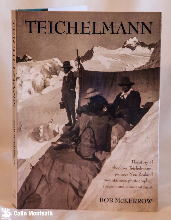 EBENEZER TEICHELMANN -  Cutting across continents - Pioneer New Zealand mountaineer, explorer, surgeon, photographer & conservationist, 1st edn., 2005, Tara press, New Delhi, as new VG+ jacket, signed Bob McKerrow on title page, sepia plates, maps, super biography of a unique pioneer in the New Zealand Alps $NZ65