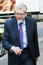 London, May 24th 2017. Convicted paedophile Rolf Harris leaves Southwark Crown court after appearing in person at his trial on further sexual offences charges where it is alleged he groped a 13-year old girl in 1983. It is the first time he has appeared in person at the trial having perviously been attending via video link, following his release from prison where he has been serving time for previous convictions on sex charges.