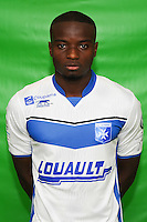 Francois Xavier Fumu Tamuzo of Auxerre during Auxerre squad photo call for the 2016-2017 Ligue 2 season on September, 7 2016 in Auxerre, France ( Photo by Andre Ferreira / Icon Sport )