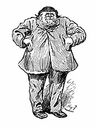 Joseph Arch (1826-1919) English trade unionist, politician and agricultural worker. Founder of National Union of Farm Labourers. Harry Furniss cartoon from 'Punch', London April 1886 when he became Liberal Member of Parliament for North West Norfolk.