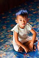 Little boy at Nanga Sumpa Longhouse.