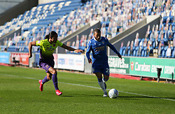 Luke Gambin of Colchester United runs at the Exeter defence - Mandatory by-line: Arron Gent/JMP - 18/06/2020 - FOOTBALL - JobServe Community Stadium - Colchester, England - Colchester United v Exeter City - Sky Bet League Two Play-off 1st Leg