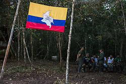 El Diamante, Meta, Colombia - 15.09.2016        <br /> <br /> Guerilla camp during the 10th conference of the marxist FARC-EP in El Diamante, a Guerilla controlled area in the Colombian district Meta. Few days ahead of the peace contract passing after 52 years of war with the Colombian Governement wants the FARC decide on the 7-days long conferce their transformation into a unarmed political organization. <br /> <br /> Guerilla-Camps zur zehnten Konferenz der marxistischen FARC-EP in El Diamante, einem von der Guerilla kontrollierten Gebiet im kolumbianischen Region Meta. Wenige Tage vor der geplanten Verabschiedung eines Friedensvertrags nach 52 Jahren Krieg mit der kolumbianischen Regierung will die FARC auf ihrer sieben taegigen Konferenz die Umwandlung in eine unbewaffneten politischen Organisation beschlieflen. <br />  <br /> Photo: Bjoern Kietzmann