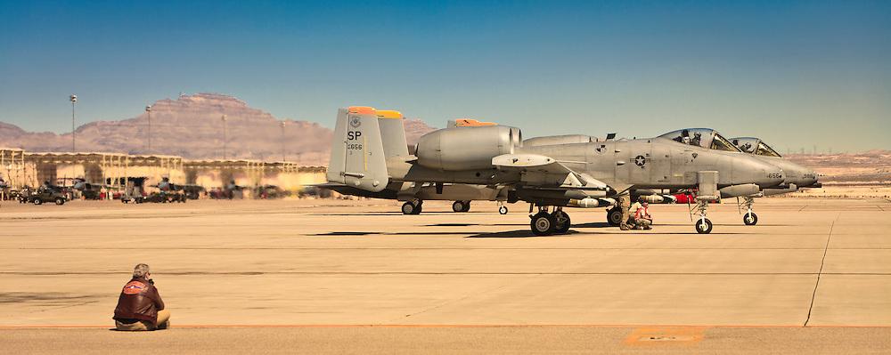 Max Haynes on the ramp at Nellis Air Force Base, Las Vegas, Nevada.