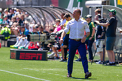 May 13, 2018 - Portland, OR, U.S. - PORTLAND, OR - MAY 13: Portland Timbers head coach Giovanni Savarese during the Portland Timbers 1-0 victory over the Seattle Sounders on May 13, 2018, at Providence Park in Portland, OR. (Photo by Diego Diaz/Icon Sportswire) (Credit Image: © Diego Diaz/Icon SMI via ZUMA Press)