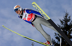Hyun-Ki Kim of Korea competes during Flying Hill Individual Qualifications at 1st day of FIS Ski Flying World Championships Planica 2010, on March 18, 2010, Planica, Slovenia.  (Photo by Vid Ponikvar / Sportida)