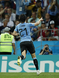 Edinson Cavani of Uruguay during the 2018 FIFA World Cup Russia round of 16 match between Uruguay and at the Fisht Stadium on June 30, 2018 in Sochi, Russia
