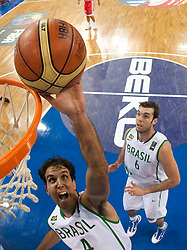 Marcelo Machado of Brasil during  the Preliminary Round - Group B basketball match between National teams of Brasil and Croatia at 2010 FIBA World Championships on September 2, 2010 at Abdi Ipekci Arena in Istanbul, Turkey. (Photo By Vid Ponikvar / Sportida.com)