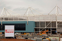 Photo. Glyn Thomas. <br /> Coventry City v Derby County. <br /> Coca Cola Championship. 30/04/2005.<br /> The as yet unfinished Ricoh Arena, which will be Coventry's home ground from the 2005-06 season onwards. Today marks their final match at Highfield Road.