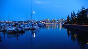 British Columbia, Canada, Moonrise, Quayside Marina, Vancouver