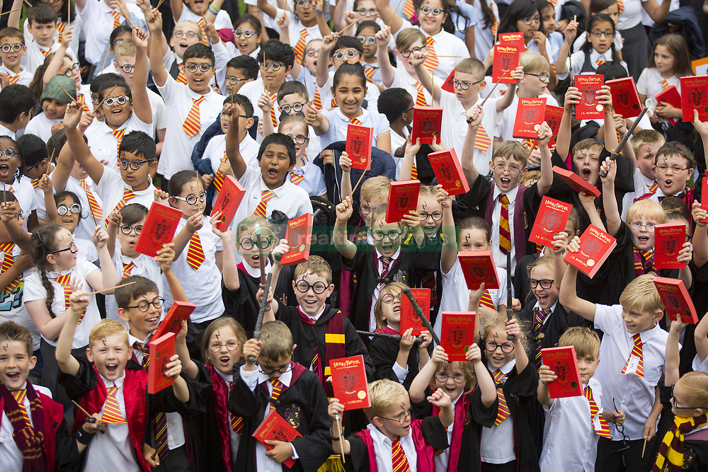 June 23, 2017 - Bolton, Greater Manchester, UK - Bolton UK. An attempt to break the world record for the largest gathering of people dressed as Harry Potter is taking place this morning at Smithhills Hall in Bolton. Bolton Museum & Library Services along with eleven local schools are coming together to try & break the record. (Credit Image: © Andrew Mccaren/London News Pictures via ZUMA Wire)