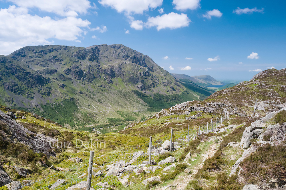 A view of Pillar and Ennerdale from the quiet path on the south-west of Haystacks