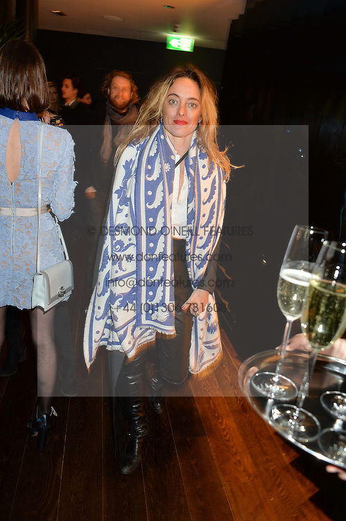 ALICE TEMPERLEY at the Launch Of Osman Yousefzada's 'The Collective' 4th edition with special guest collaborator Poppy Delevingne held in the Rumpus Room at The Mondrian Hotel, 19 Upper Ground, London SE1 on 24th November 2014, sponsored by Storm models and Beluga vodka.