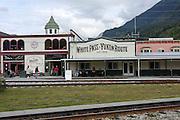 Whitepass, Yukon, Alaska, USA The Historic train station on The White Pass and Yukon Route