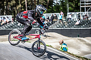 #715 (MALENFANT Gaby) CAN during practice at Round 5 of the 2018 UCI BMX Superscross World Cup in Zolder, Belgium