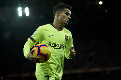 February 10, 2019 - Bilbao, Vizcaya, Spain - Coutinho of Barcelona during the week 23 of La Liga between Athletic Club and FC Barcelona at San Mames stadium on February 10 2019 in Bilbao, Spain. (Credit Image: © Jose Breton/NurPhoto via ZUMA Press)